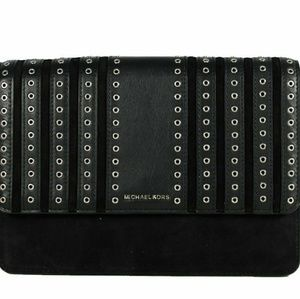 Michael Kors Black Brooklyn Grommet Crossbody Hand